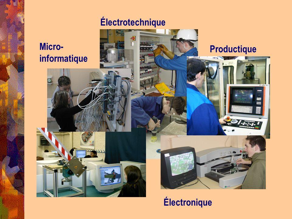 Micro- informatique Électrotechnique Productique Électronique