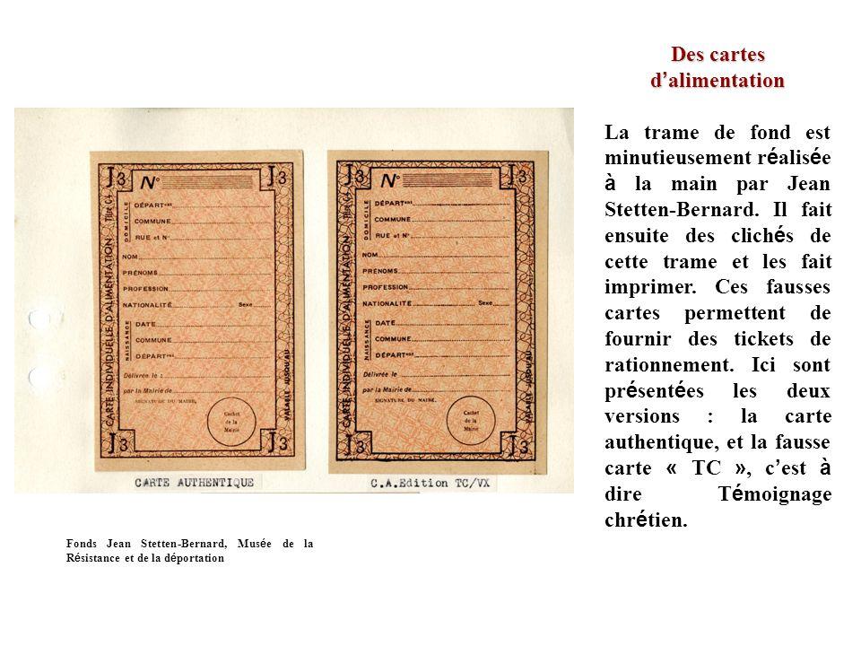 Des cartes d alimentation La trame de fond est minutieusement r é alis é e à la main par Jean Stetten-Bernard.