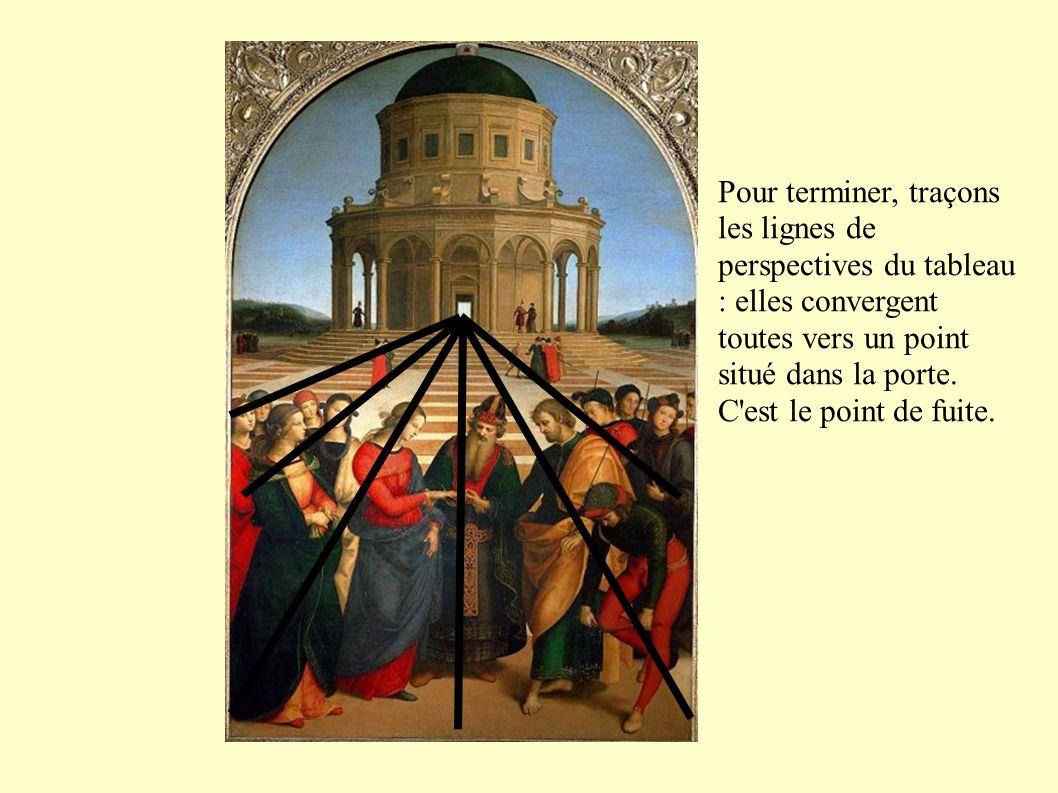 Conclusion : Raphaël a construit son tableau comme un mathématicien.