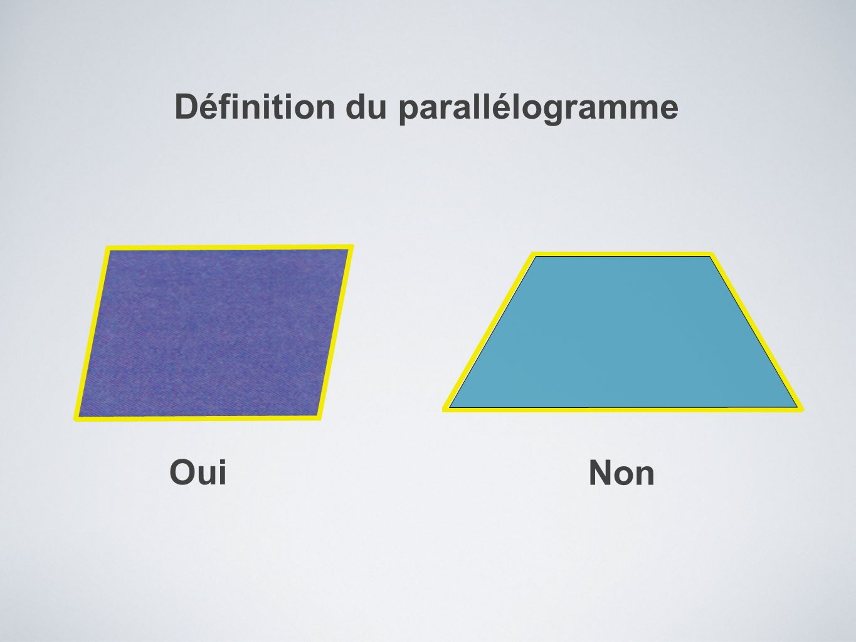Définition du parallélogramme Oui Non