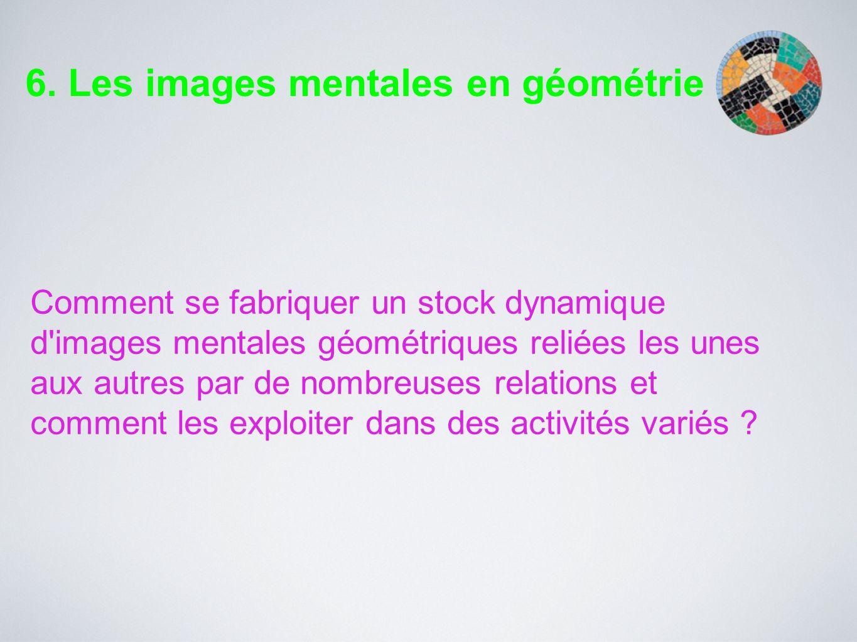 Comment se fabriquer un stock dynamique d'images mentales géométriques reliées les unes aux autres par de nombreuses relations et comment les exploite