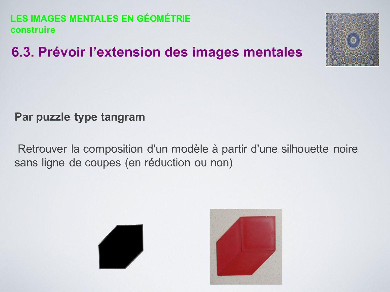 Par puzzle type tangram Retrouver la composition d'un modèle à partir d'une silhouette noire sans ligne de coupes (en réduction ou non) LES IMAGES MEN