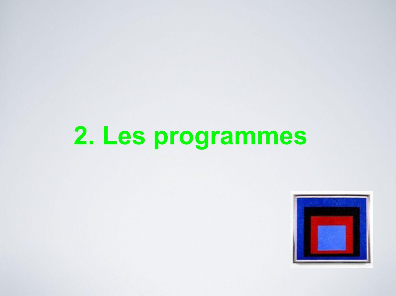 2. Les programmes