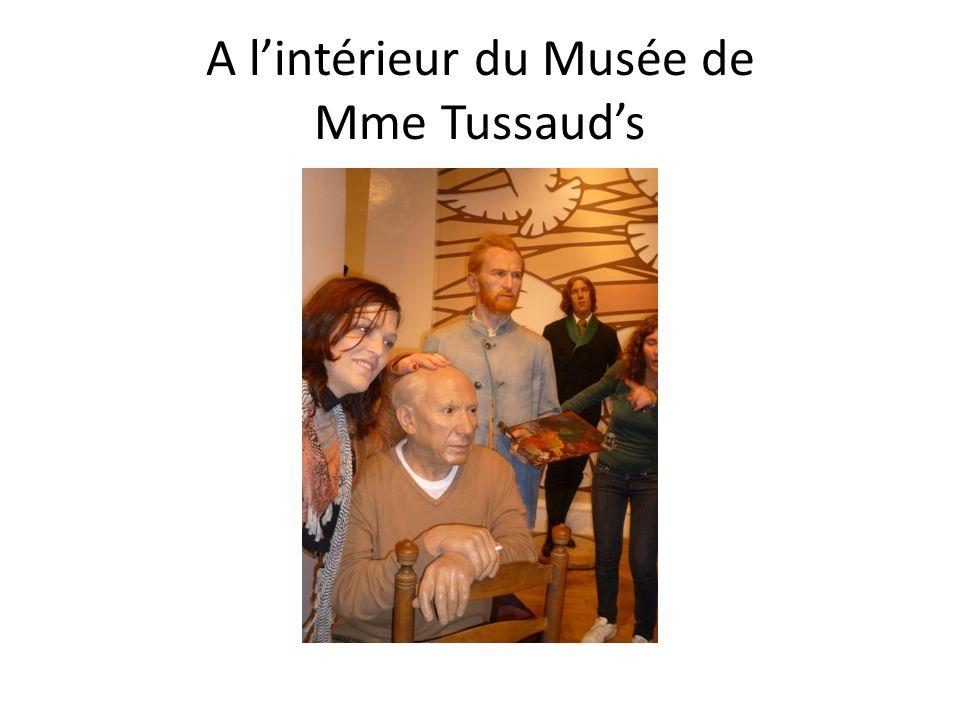 A lintérieur du Musée de Mme Tussauds