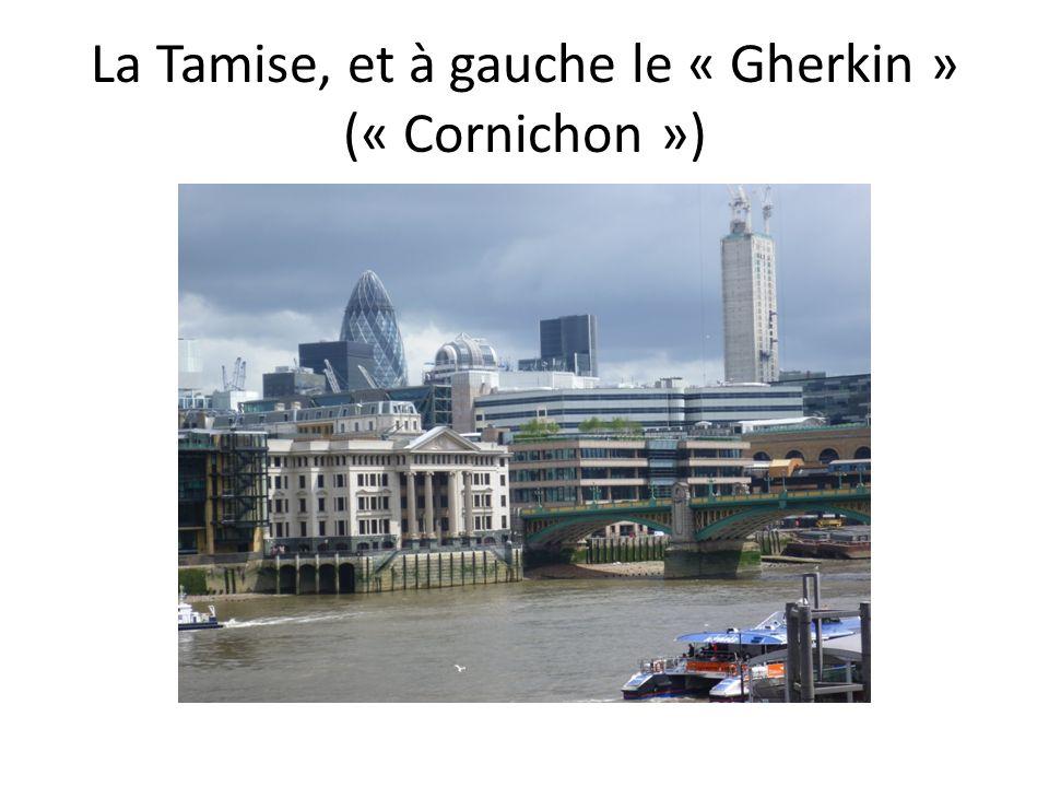 La Tamise, et à gauche le « Gherkin » (« Cornichon »)