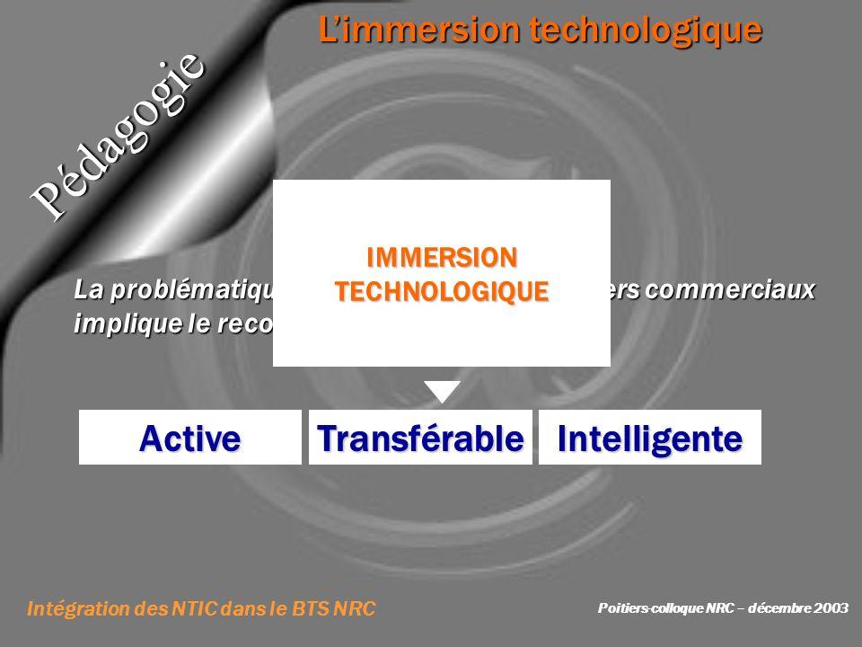 La problématique professionnelle des métiers commerciaux implique le recours permanent aux NTIC Limmersion technologique Utilisateur Vecteur de linfor
