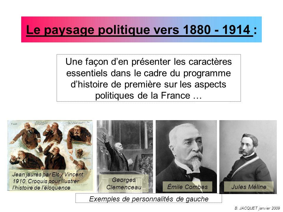 Le paysage politique vers 1880 - 1914 : Une façon den présenter les caractères essentiels dans le cadre du programme dhistoire de première sur les asp