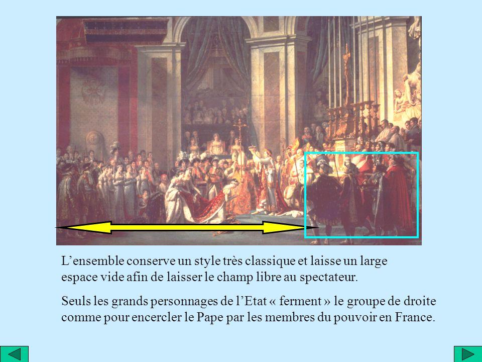 Les lignes verticales rendent lensemble encore plus majestueux, dans la continuité des bras de Napoléon… …bras qui sinscrivent dans une construction g