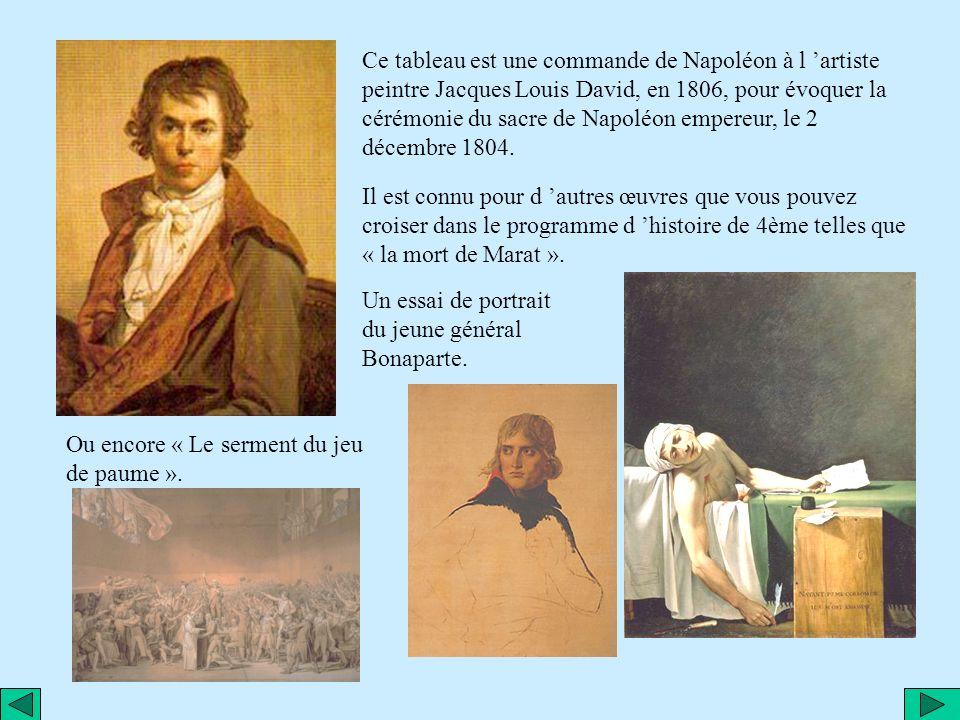 Etude d un tableau de Jacques Louis DAVID: « Le Sacre de Napoléon »