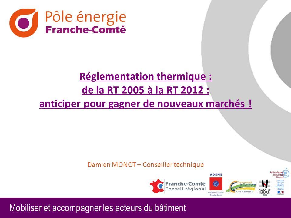 Mobiliser et accompagner les acteurs du bâtiment Répondre aux exigences de performance énergétique