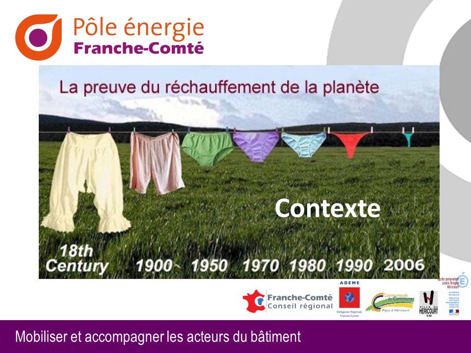 Mobiliser et accompagner les acteurs du bâtiment Cep < Cepmax (consommation en énergie primaire) Bbio < Bbiomax (besoin énergétique) Tic < Tic conventionelle (température intérieure de confort)