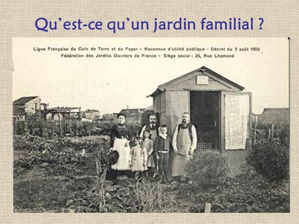 Quest-ce quun jardin familial ? Par définition, un jardin familial est une parcelle de terrain mise à la disposition dun habitant par une municipalité