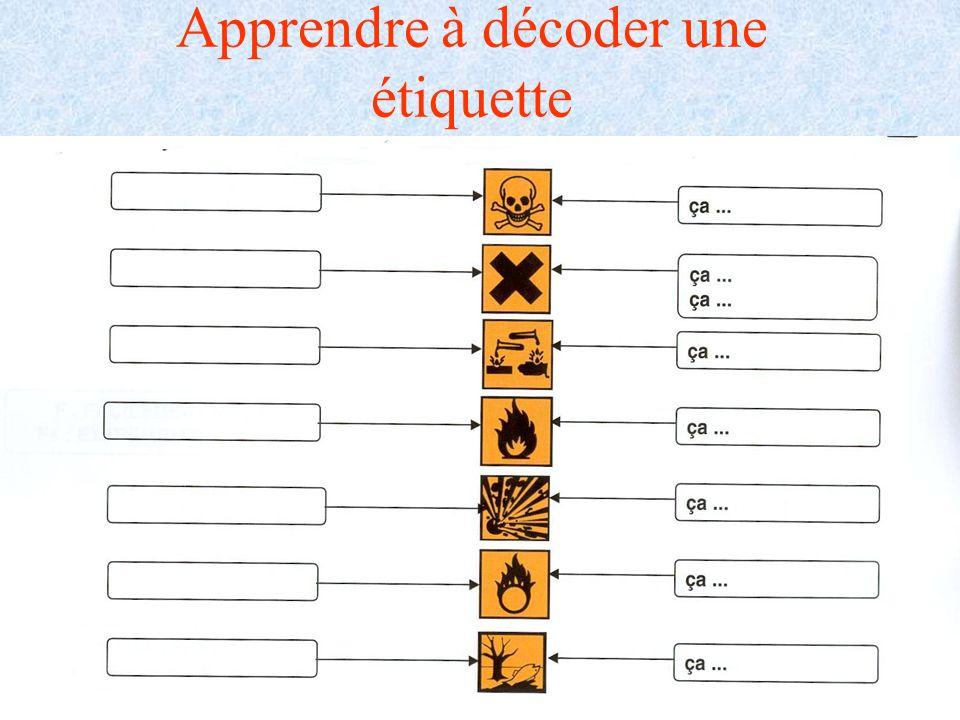 A.MAUROUARD Lycée Alexis de Tocqueville CHERBOURG Apprendre à décoder une étiquette