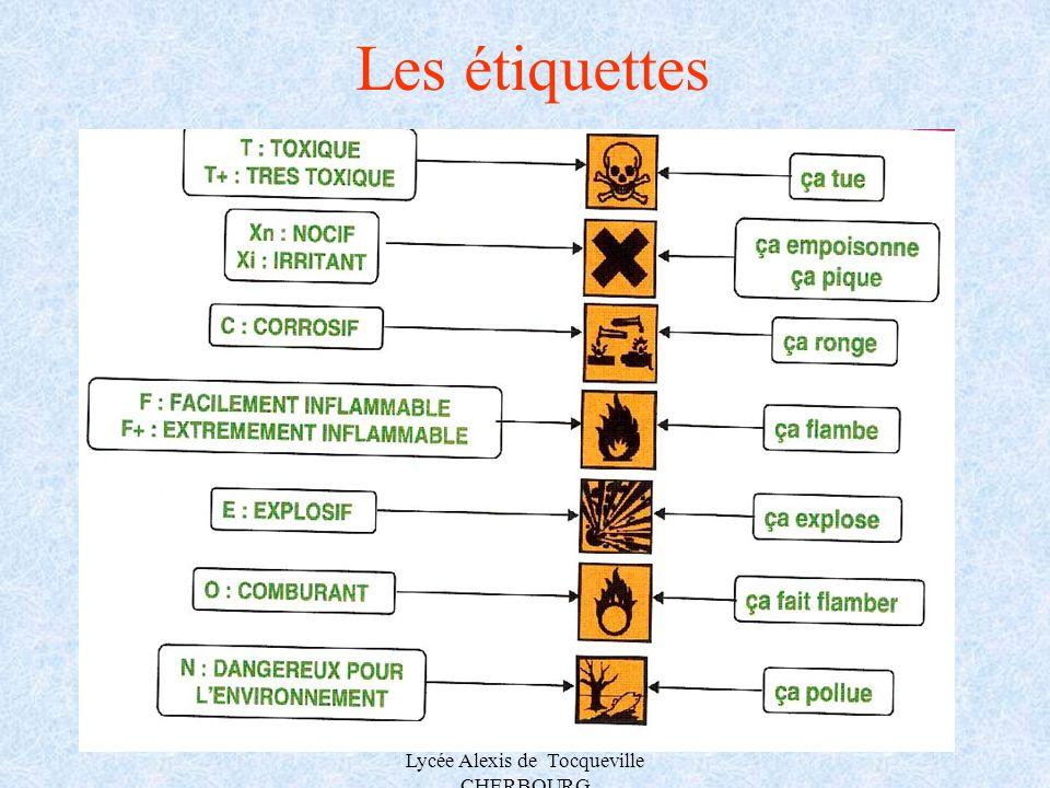 A.MAUROUARD Lycée Alexis de Tocqueville CHERBOURG Les étiquettes