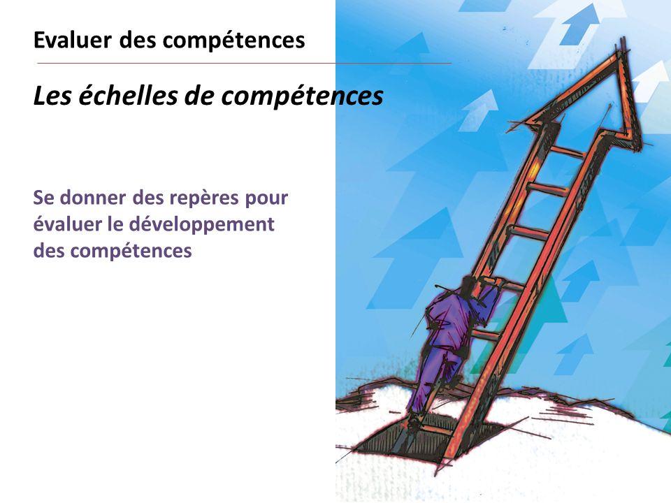 Se donner des repères pour évaluer le développement des compétences Les échelles de compétences Evaluer des compétences