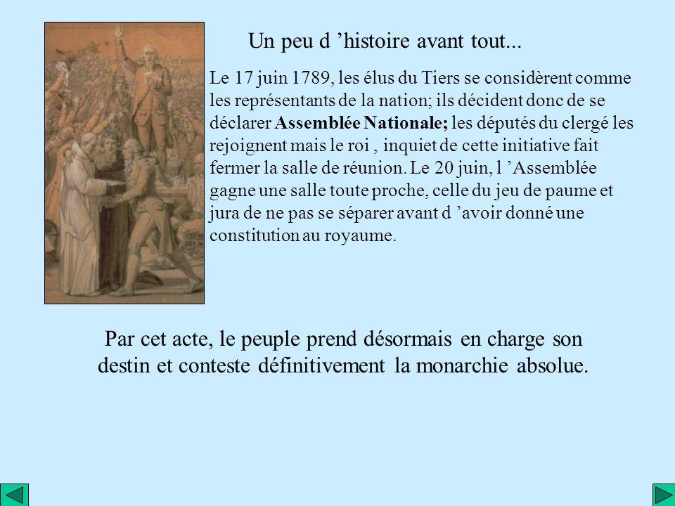 La Révolution Française à travers une œuvre d art... « Le serment du jeu de paume » par J.L. David