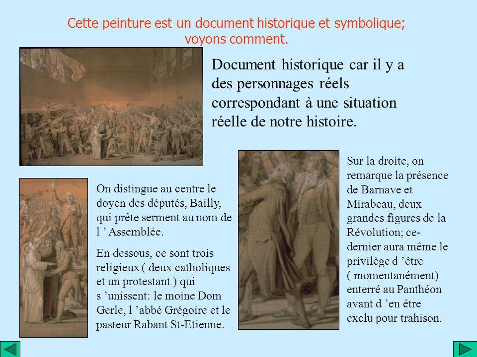 Construction du tableau Ce tableau est une œuvre inachevée de JL David, auteur notamment de célèbres peintures de Napoléon ou de Marat mort...