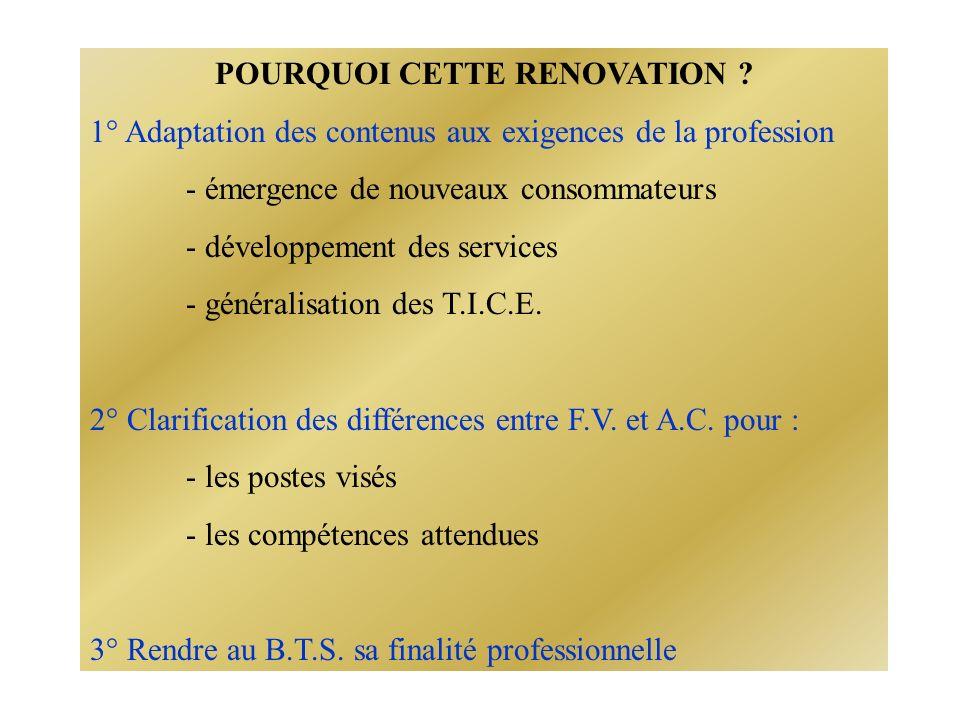 POURQUOI CETTE RENOVATION .