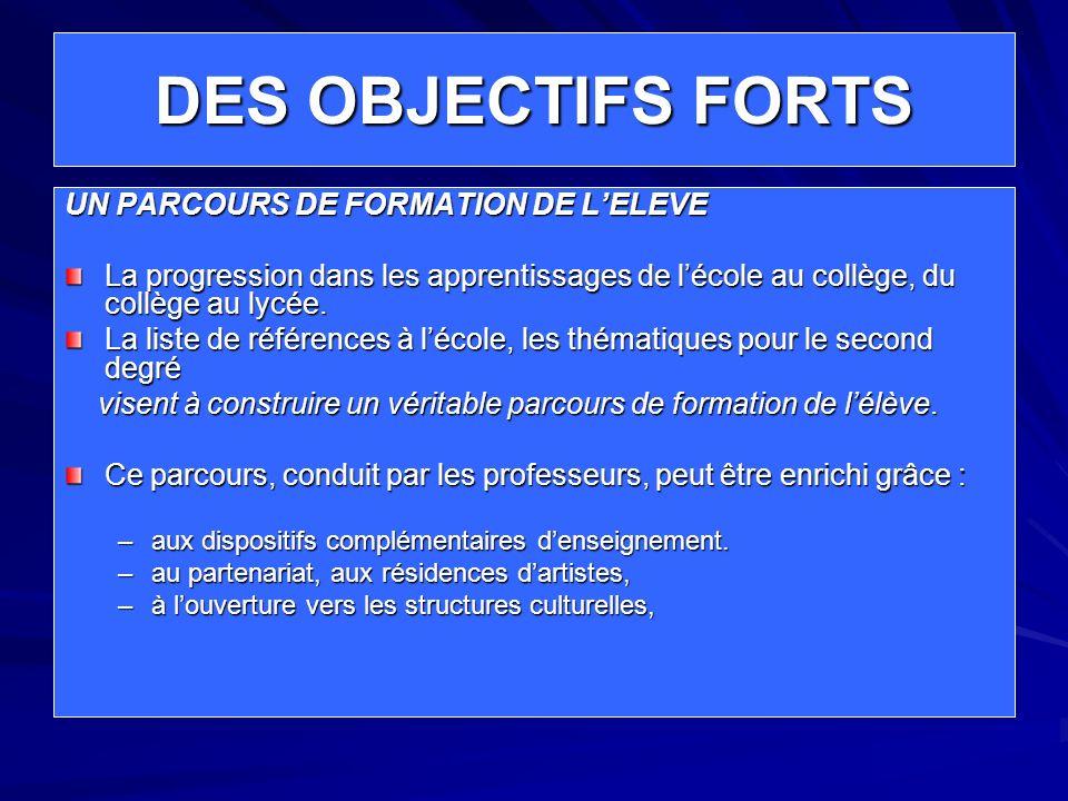 DES OBJECTIFS FORTS Une progression des acquisitions de lécole au lycée : Dans les connaissances Dans les capacités Dans les attitudes Une cohérence dans les démarches de lécole au Lycée.