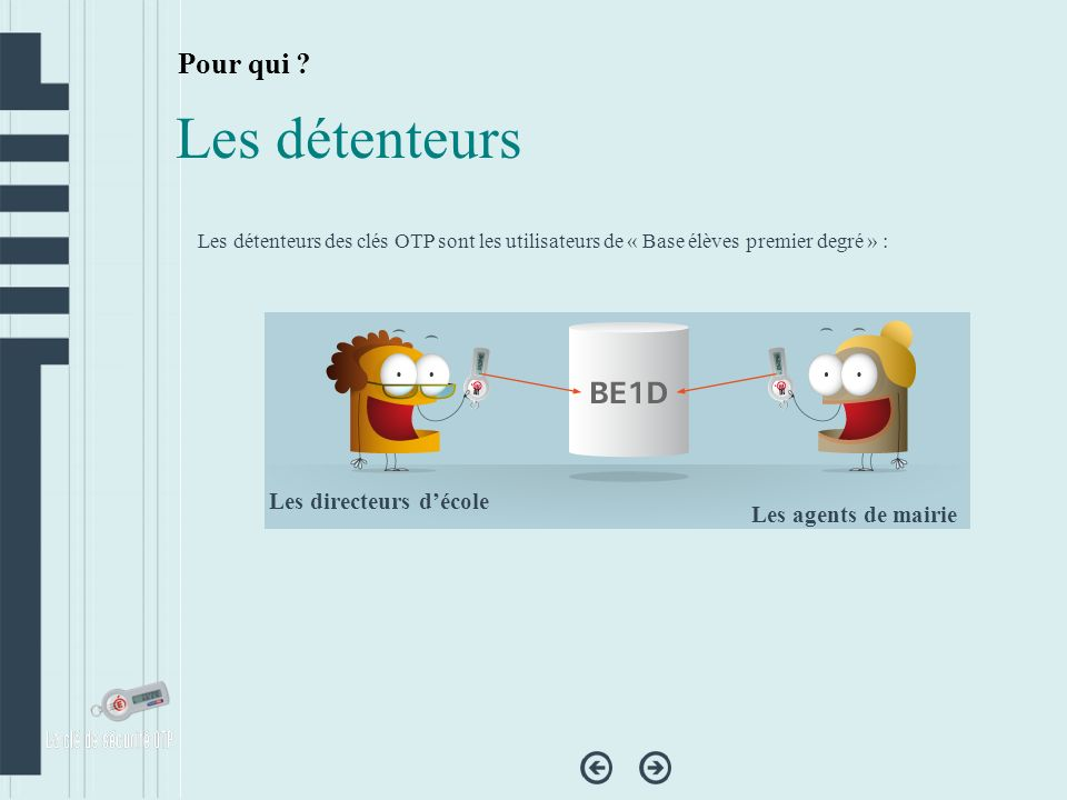Penser à fermer le navigateur Internet à la fin de chaque utilisation de BE1D, pour se déconnecter de l application, ou utiliser les boutons prévus à cet effet.