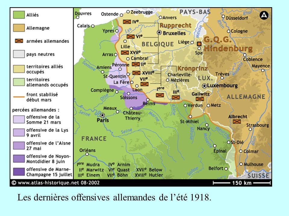 Les dernières offensives allemandes de lété 1918.