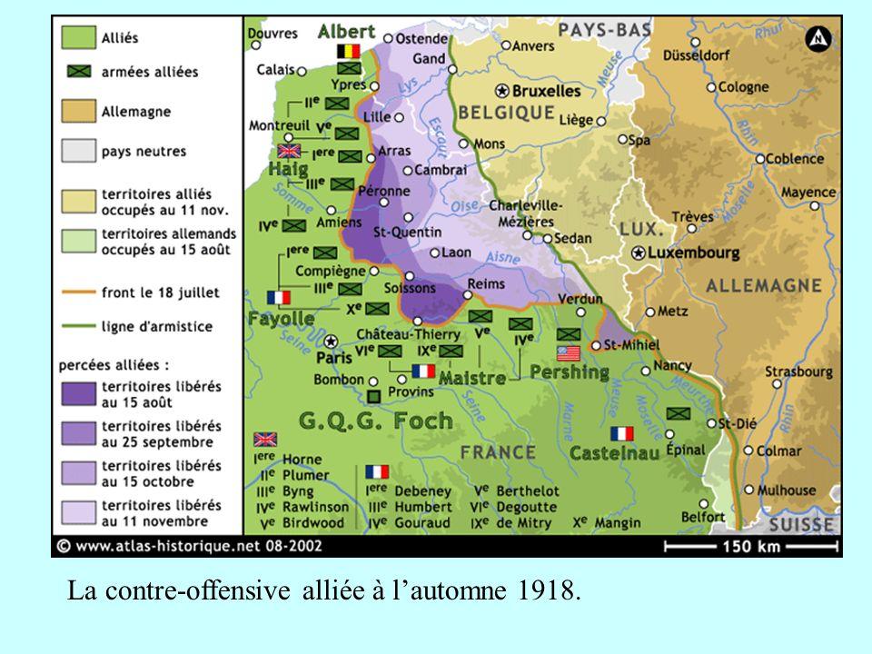 La contre-offensive alliée à lautomne 1918.