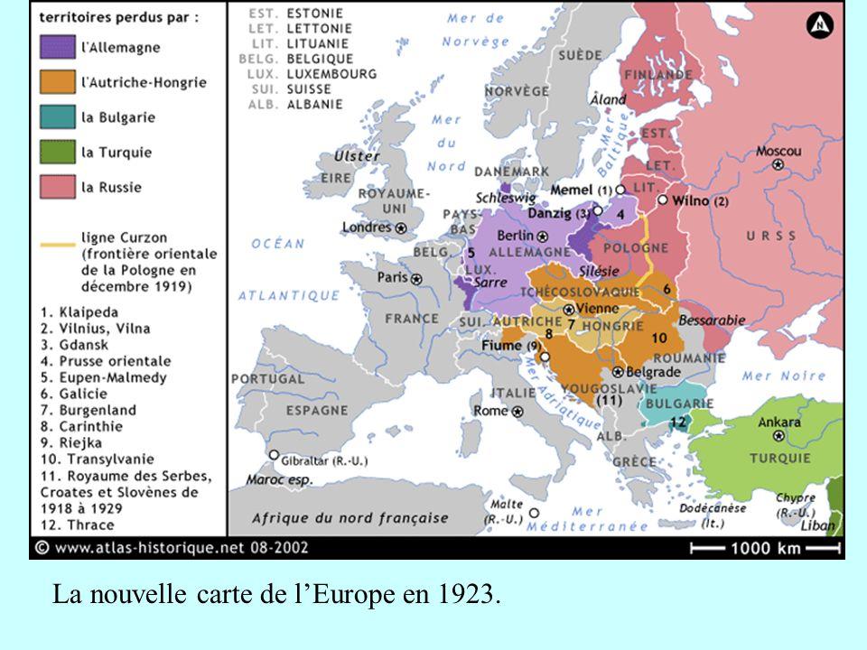 La nouvelle carte de lEurope en 1923.