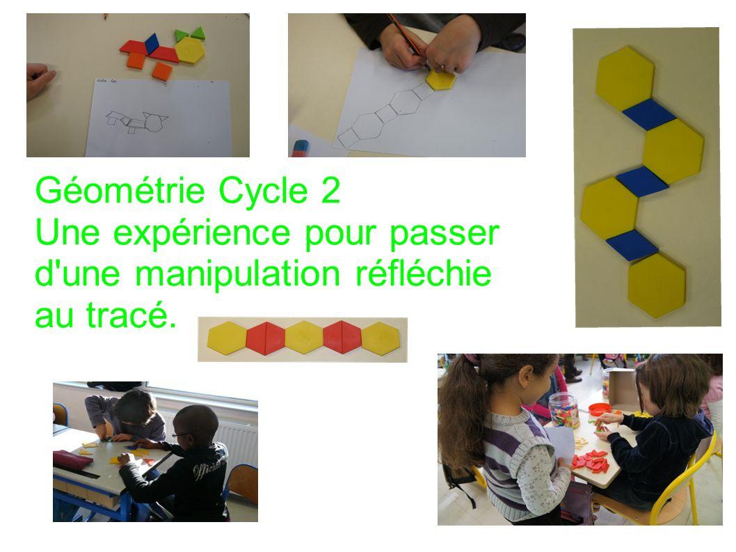 Géométrie Cycle 2 Une expérience pour passer d'une manipulation réfléchie au tracé.