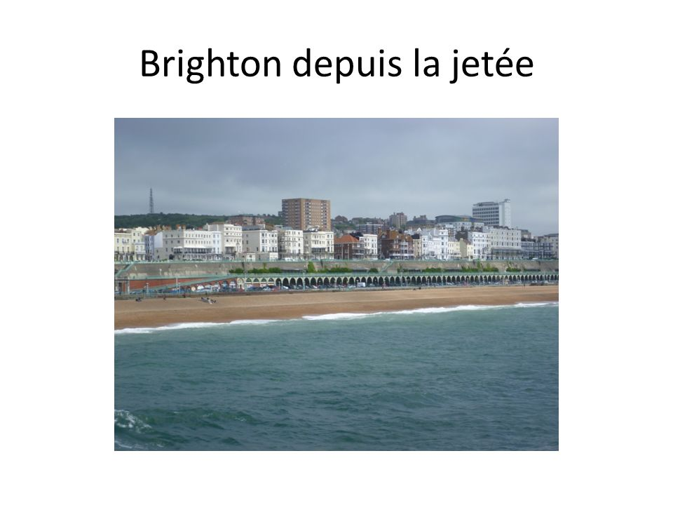 Brighton depuis la jetée