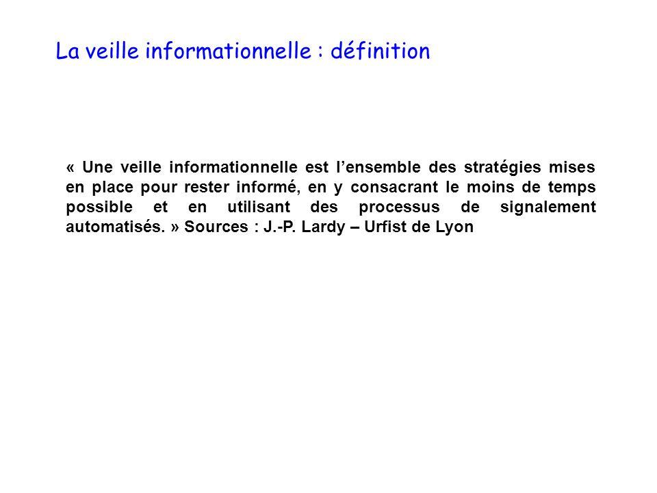 La veille informationnelle : les domaines dapplication - Domaines personnels - Domaines professionnels Cinéma, jeux vidéo, artistes, actualités….