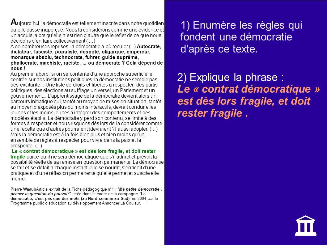 La garantie des libertés fondamentales LES LIBERTES I.