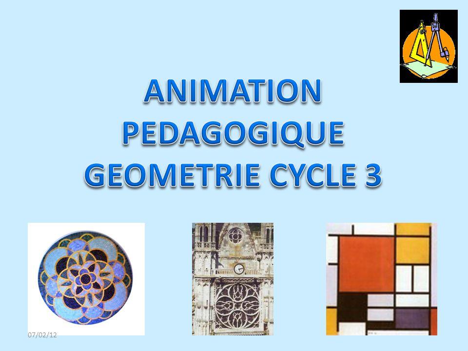 La géométrie peut être définie comme la combinaison de : - lespace sensible, contenant des objets et est accessible par le biais des sens.