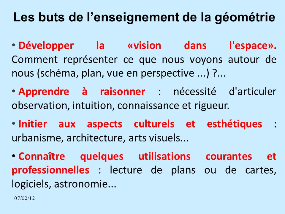 Différentes activités 34 2.Reproduire un objet géométrique : Réaliser la copie dun objet.