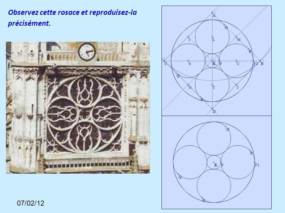 35 Observez cette rosace et reproduisez-la précisément. 07/02/12