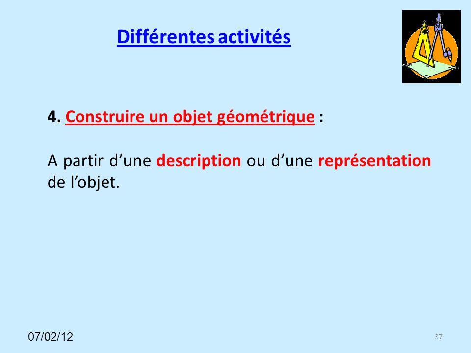 Différentes activités 37 4.