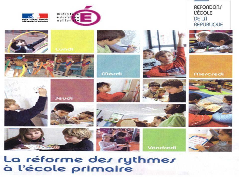 La réforme des rythmes à lécole primaire Rentrée 2013 Réunion des directeurs Circonscription de Montbéliard 3 IEN Mme Bécoulet Le 5 mars 2013