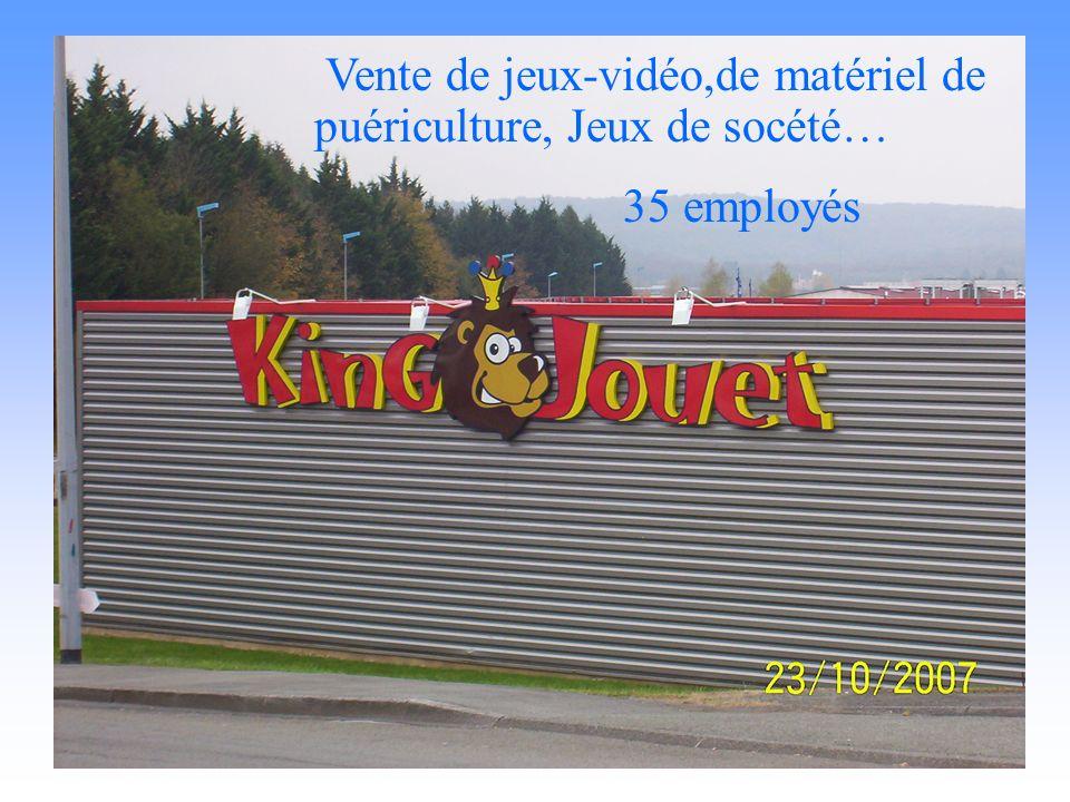 King jouet Vente de jeux-vidéo,de matériel de puériculture, Jeux de socété… 35 employés