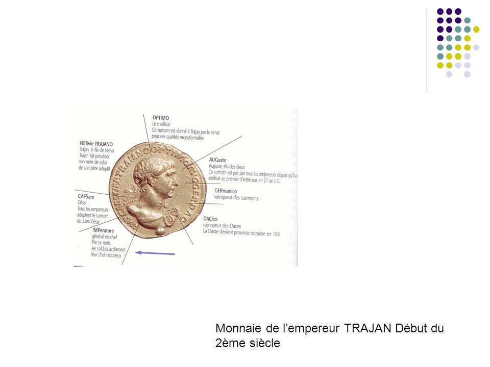 Monnaie de lempereur TRAJAN Début du 2ème siècle