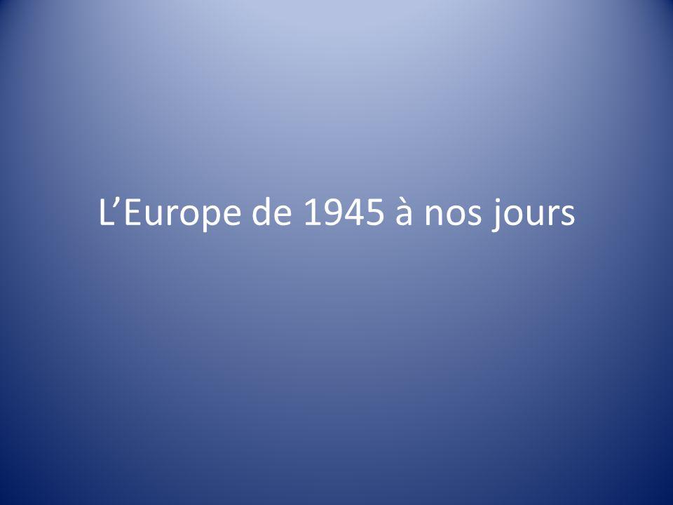 LEurope de 1945 à nos jours