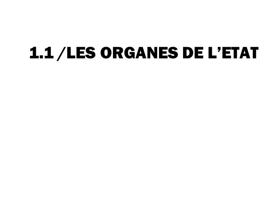 1.1 /LES ORGANES DE LETAT