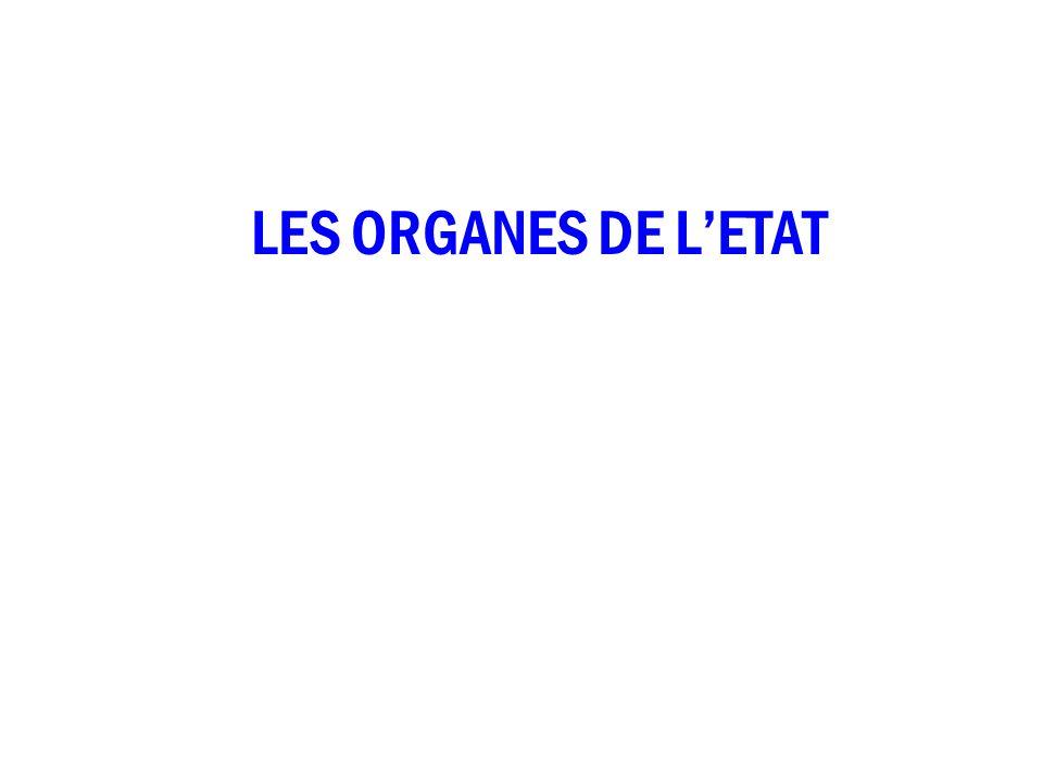 LES ORGANES DE LETAT
