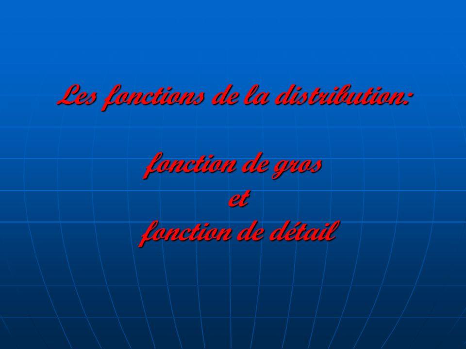 Les fonctions de la distribution: fonction de gros et fonction de détail