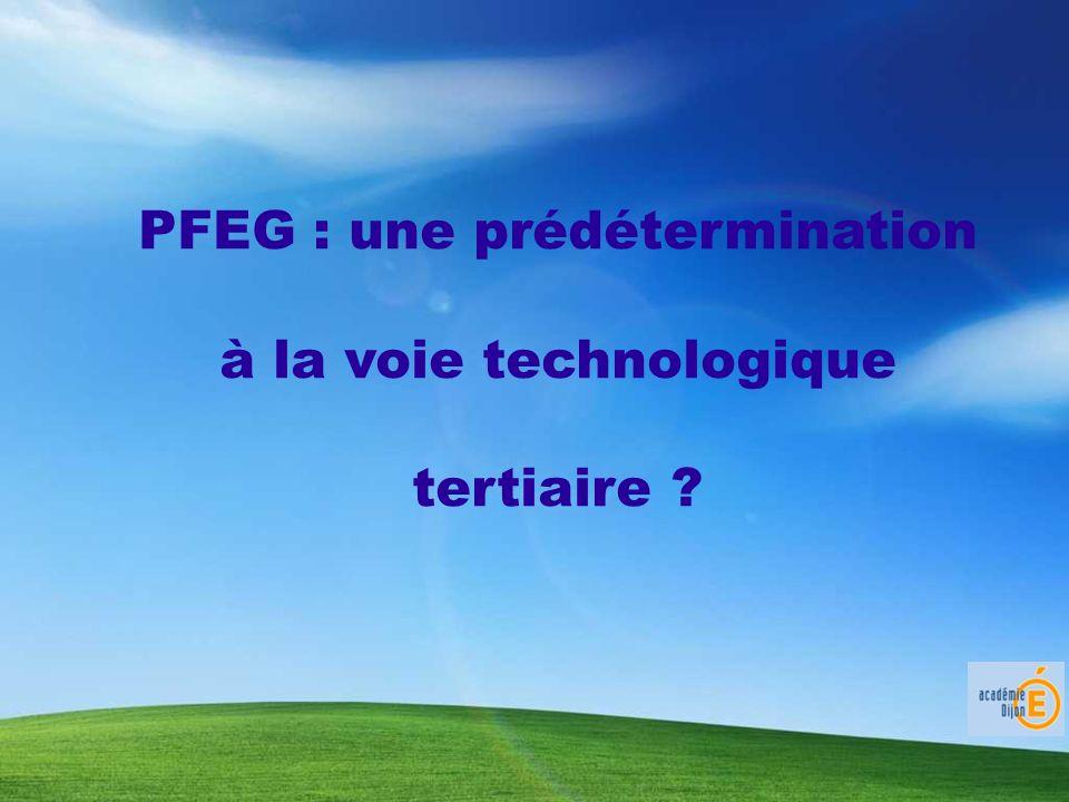 PFEG : une prédétermination à la voie technologique tertiaire