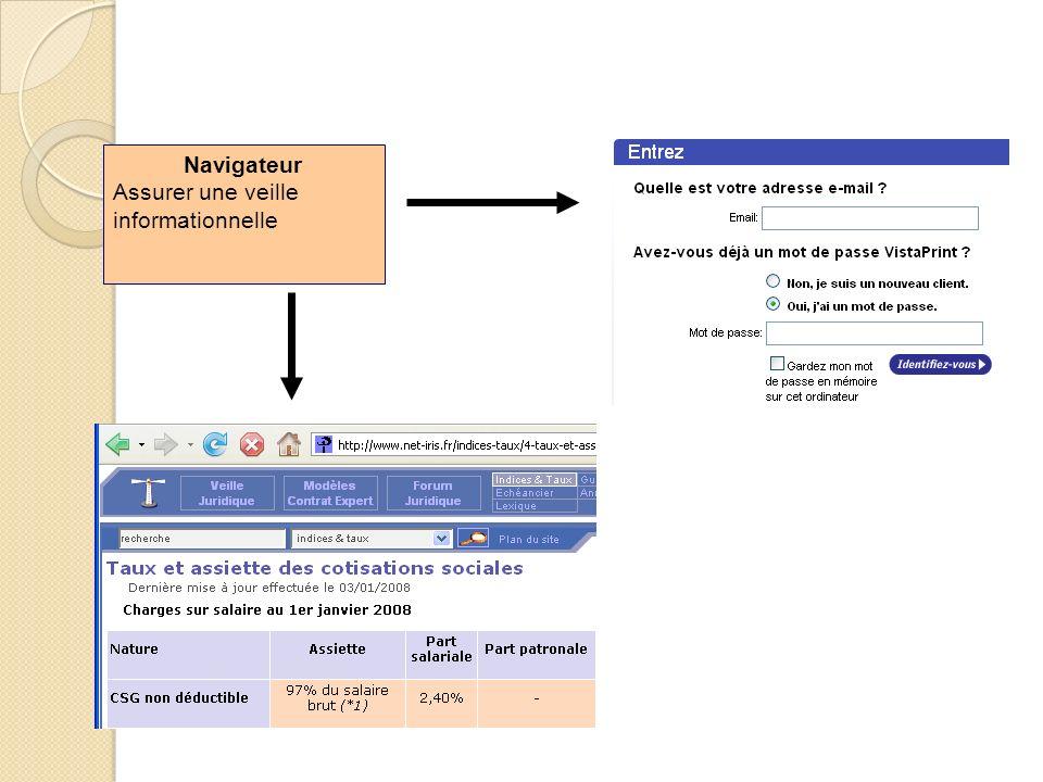 Navigateur Assurer une veille informationnelle