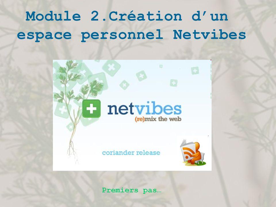 Module 2.Création dun espace personnel Netvibes Premiers pas…