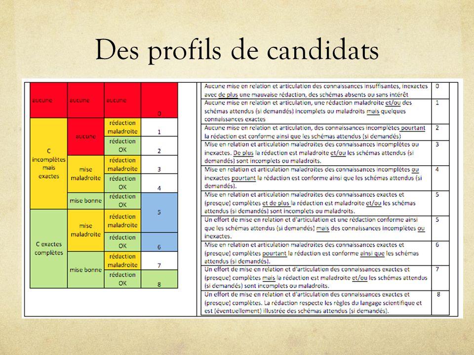Des profils de candidats
