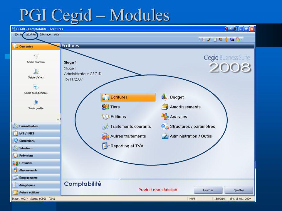 PGI Cegid – Modules