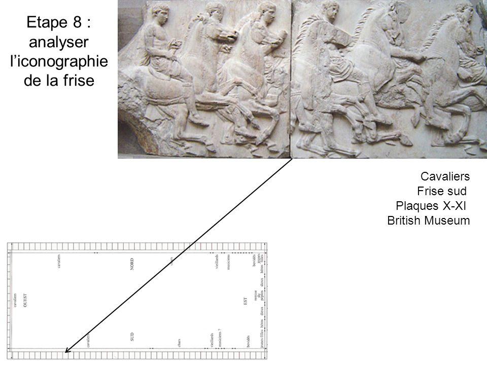 Etape 8 : analyser liconographie de la frise Cavaliers Frise sud Plaques X-XI British Museum
