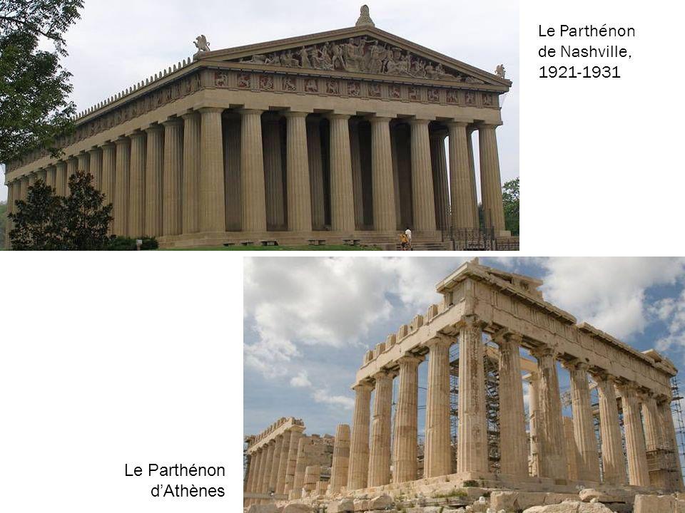 Le Parthénon de Nashville, 1921-1931 Le Parthénon dAthènes