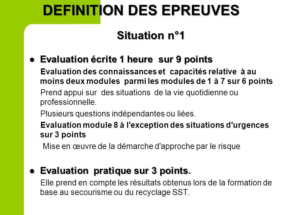 2 nde prof Situation 1 Evaluation écrite – 1h Situation 1 Evaluation écrite – 1h Evaluation par sondage des compétences des modules 1 à 5 Evaluation p